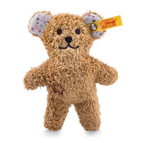 Mini Knister-Teddybär mit Rassel