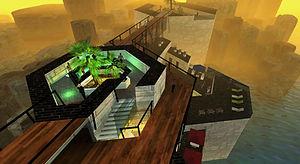 東尋坊の灯台 - 夕霧の中