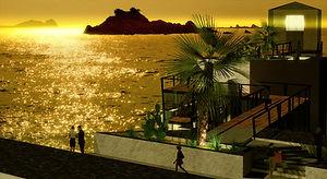 東尋坊の灯台 - 夕日の展望台