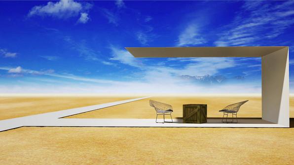 Rest corner in the desert / 砂漠の休憩所