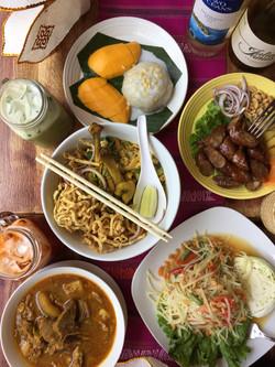 Kow Soy Gai, Pad Thai, Mango Sticky Rice