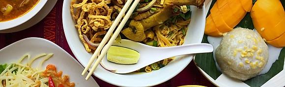 Thai food  & SINGHA beer.