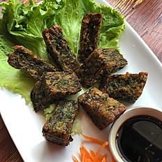 Kui Chai Tod ( Fried Chive Cake)