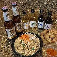 Pad Thai + App + SINGHA beer