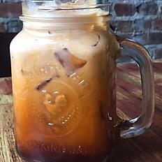 Thai iced tea w/ ALMOND MILK