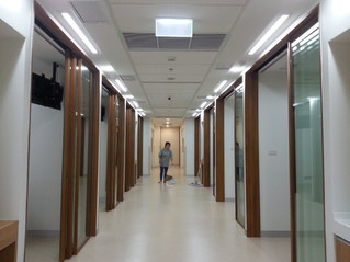 Healthcare Project: Soft-close Telescopic System for Timber Frame Glass Door