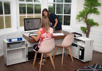 Living room office