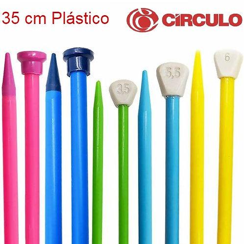 Agulha Tricô Plástico 35cm Círculo