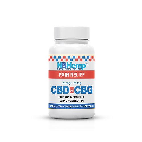 CBD + CBG SoftGel Capsules High Potency Curcumin Complex with Chondroitin