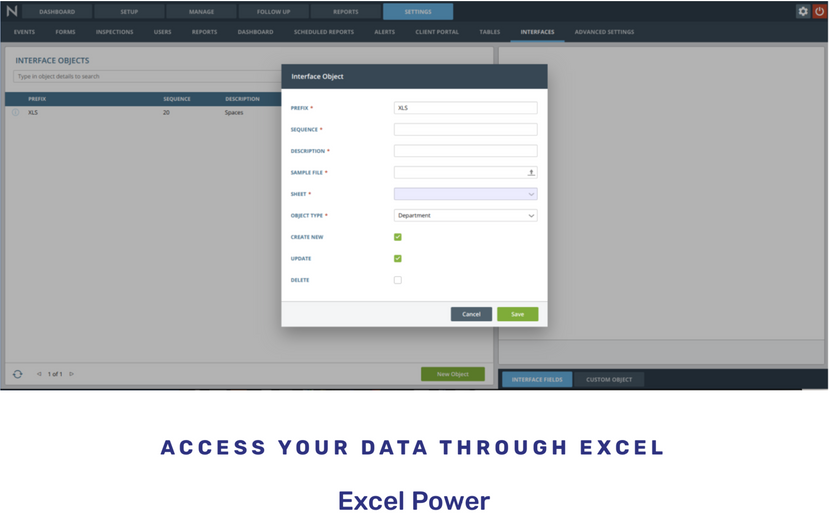 Excel Interfacing