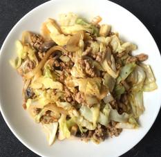 Asian Cabbage Pork Stir Fry