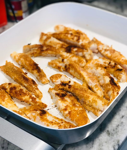 Healthi-Fried Fish Sticks