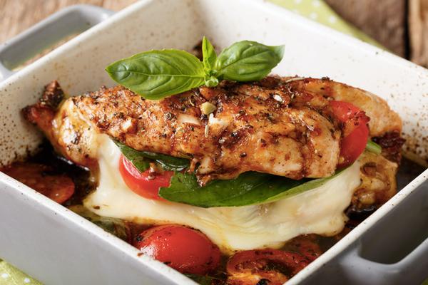 Sheet-pan Caprese Chicken