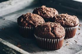 Chocolate Banana Protein Muffins