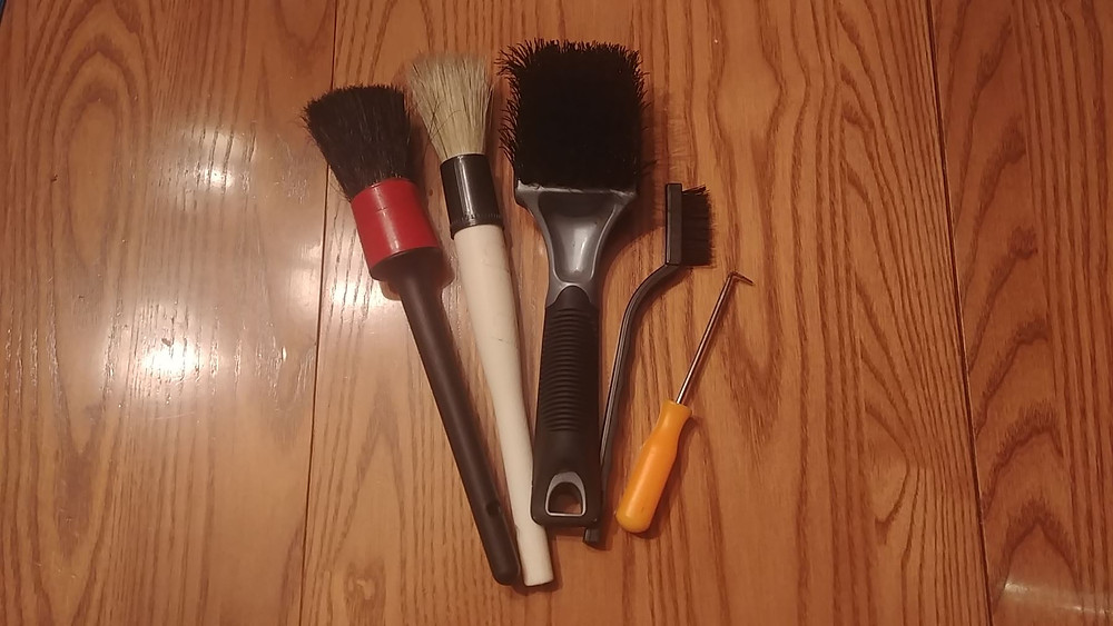 Assorted brushes for carpet cleaning