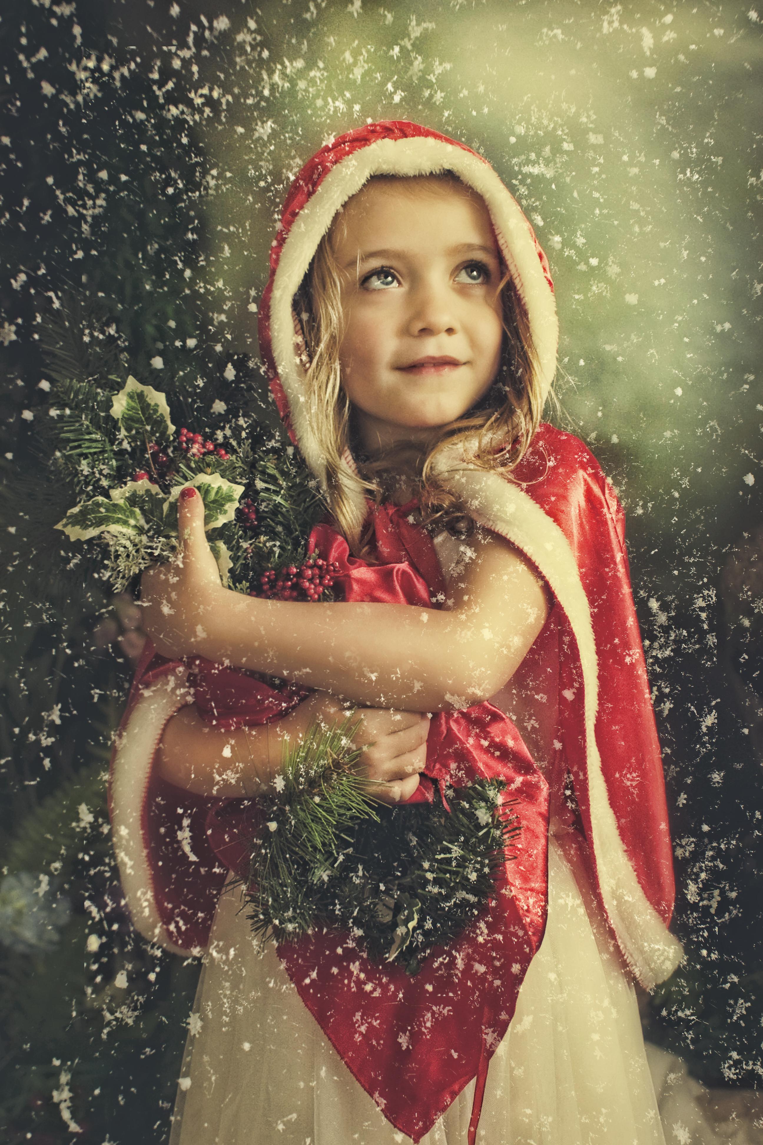 Christmas child portrait