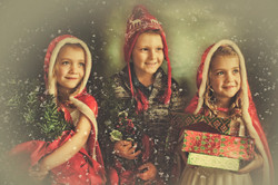 Vintage Christmas Card Photography