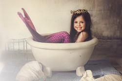 Vintage Mermaid in Bath