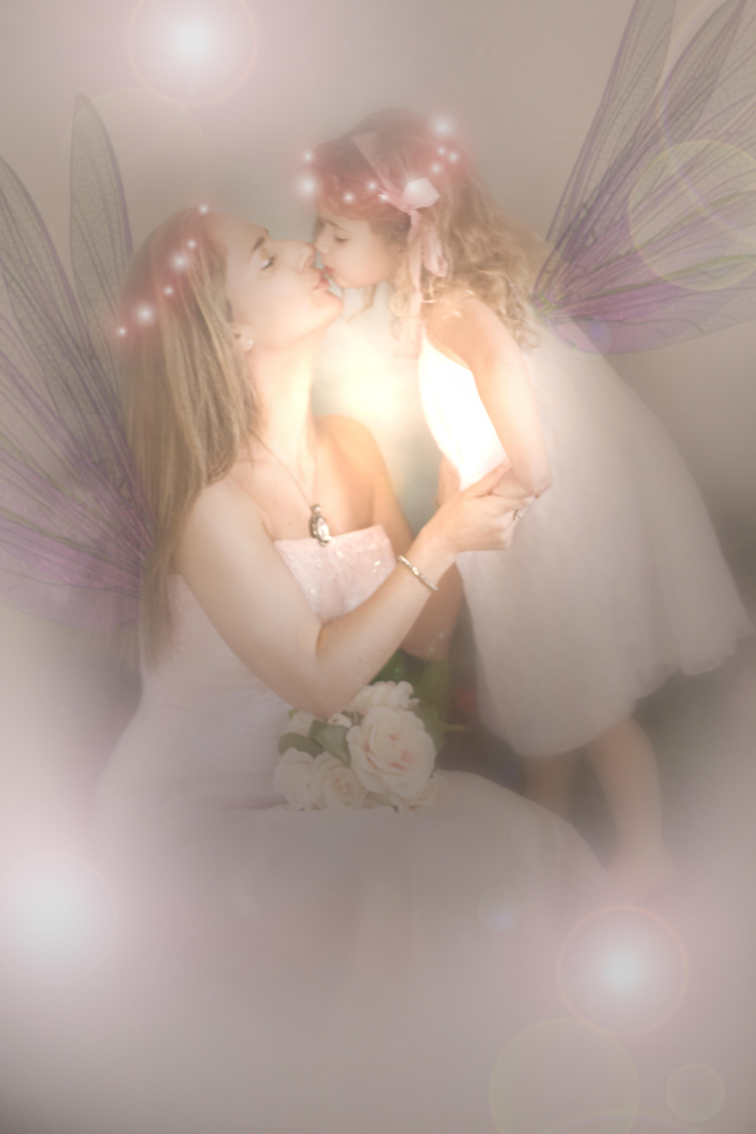 Mummy and me fairy portrait