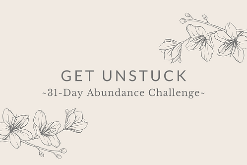 Day 30 - Get Unstuck
