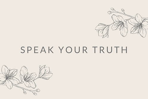 Day 26 - Speak Your Truth