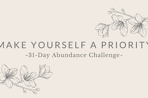 Day 23 - Make Yourself A Priority