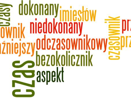 Aspekt dokonany i niedokonany, rzeczowniki odczasownikowe, imiesłowy – podręczny zestaw powtórkowy (