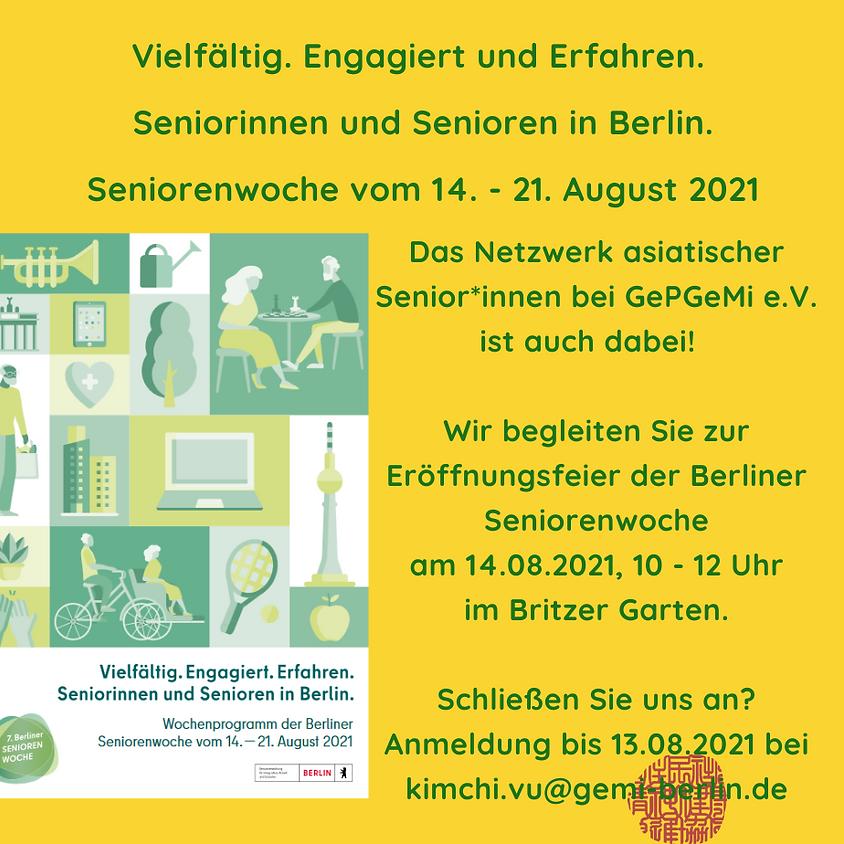 Eröffnungsfeier der Seniorenwoche - Begleitung & Austausch