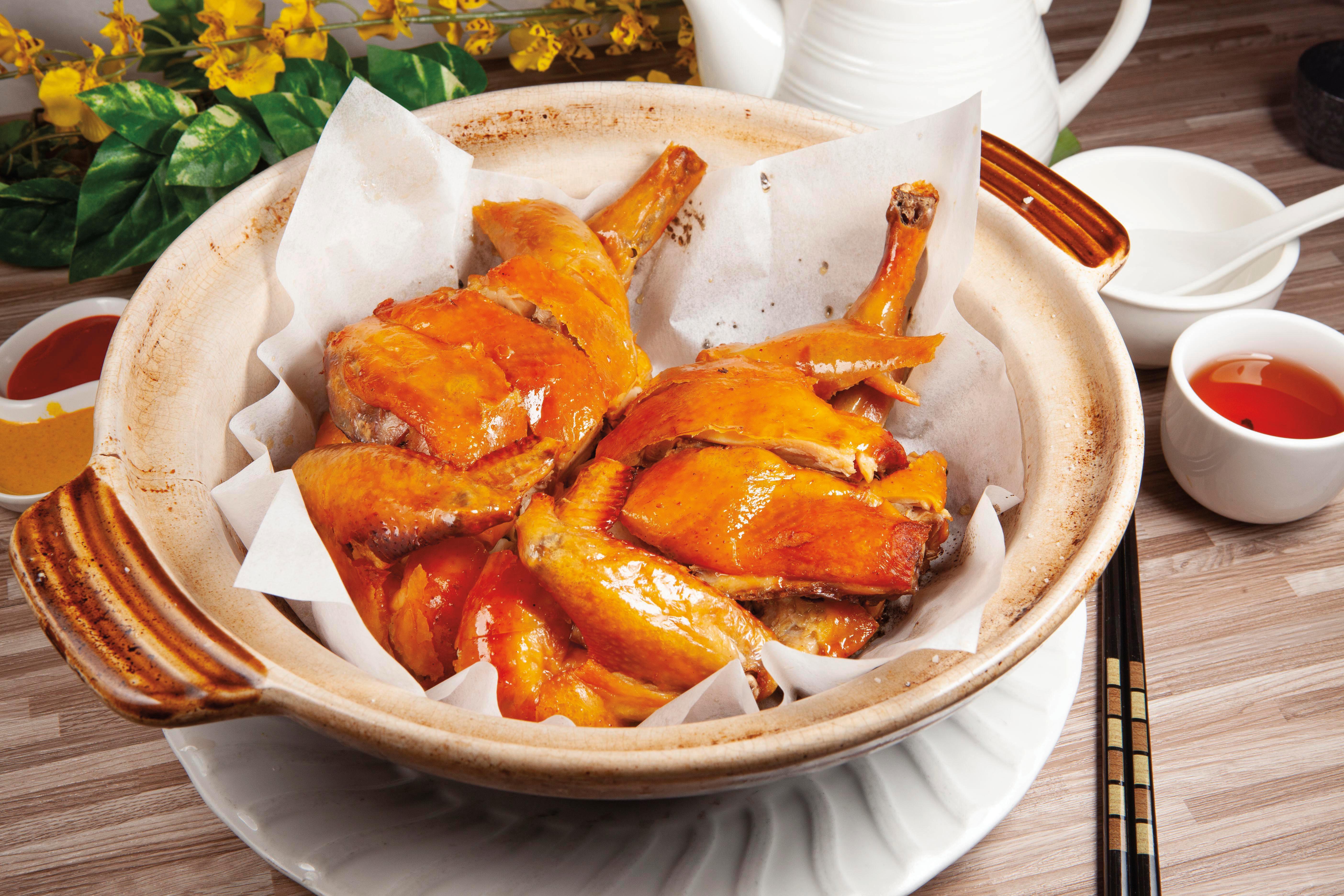 脆皮鹽焗雞