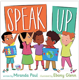 Book Trailer Reveal! SPEAK UP by Miranda Paul & Ebony Glenn