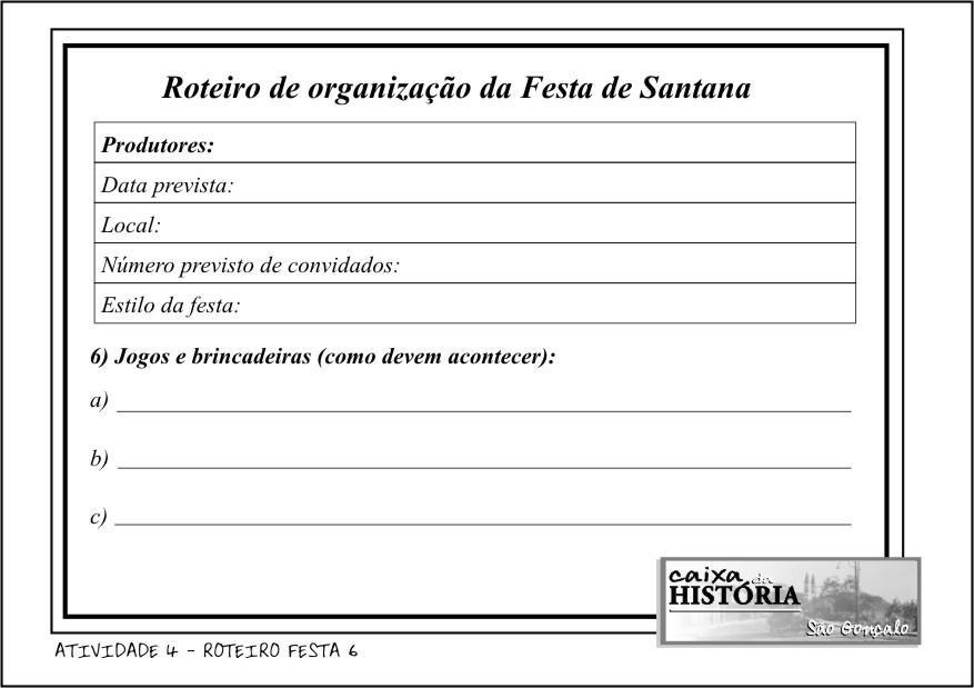 ROTEIRO FESTA 6