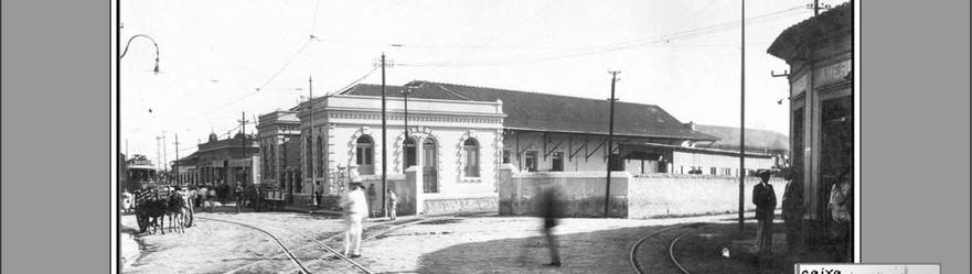 FOTO 6 - Garagem inicial da Estrada de Ferro Maricá e armazéns em Neves