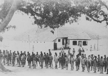 Formatura dos menores do Preventório Almirante Protógenes, Ilha do Carvalho