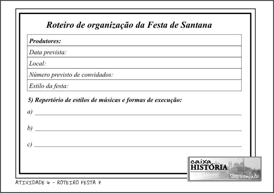 ROTEIRO FESTA 5