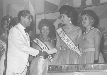 Premiação do concurso de Miss do Clube Tamoio