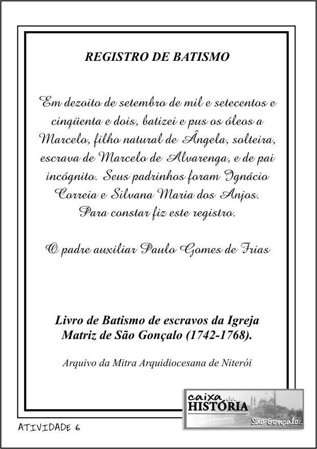 REGISTRO DE BATISMO