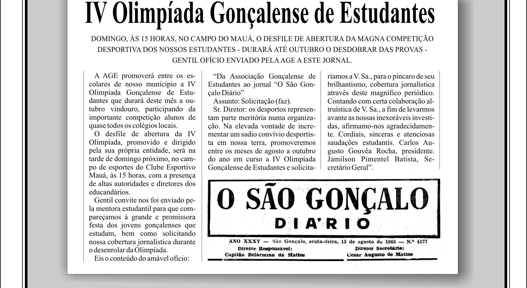 IV Olimpíada Gonçalense de Estudantes