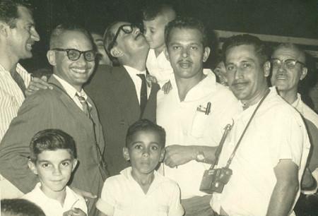 Jânio Quadros, em campanha para Presidente da República em São Gonçalo
