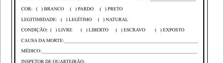 FICHA DE IDENTIFICAÇÃO DE ÓBITOS