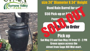 Rain barrel sale raises over $2,300