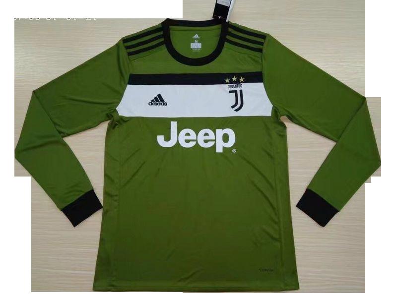 save off 06da2 1d033 Juventus Third Away Green Long Sleeve Jersey 2017-18
