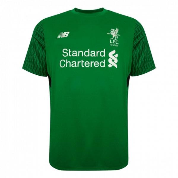 new style 965b0 5e819 Liverpool Goalkeeper Green Jersey Short Sleeve Men