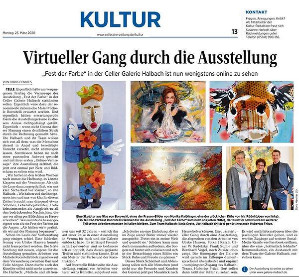 Cellesche Zeitung 23.03.2020