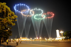 Olympic Rings over Tiananmen Square