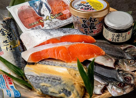 【魚匠米門】送料無料!大粒いくら100gと厳選焼き魚4種7枚の贅沢セット