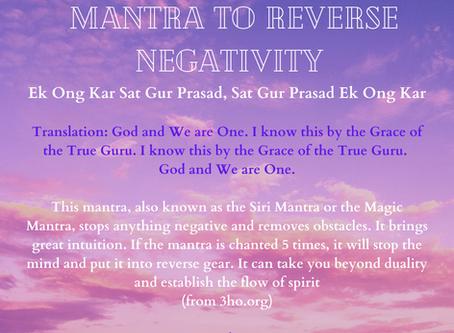 Mantra to Reverse Negativity