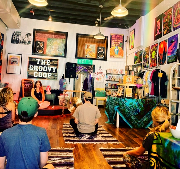 Yoga of Awareness at the Groovy Coop