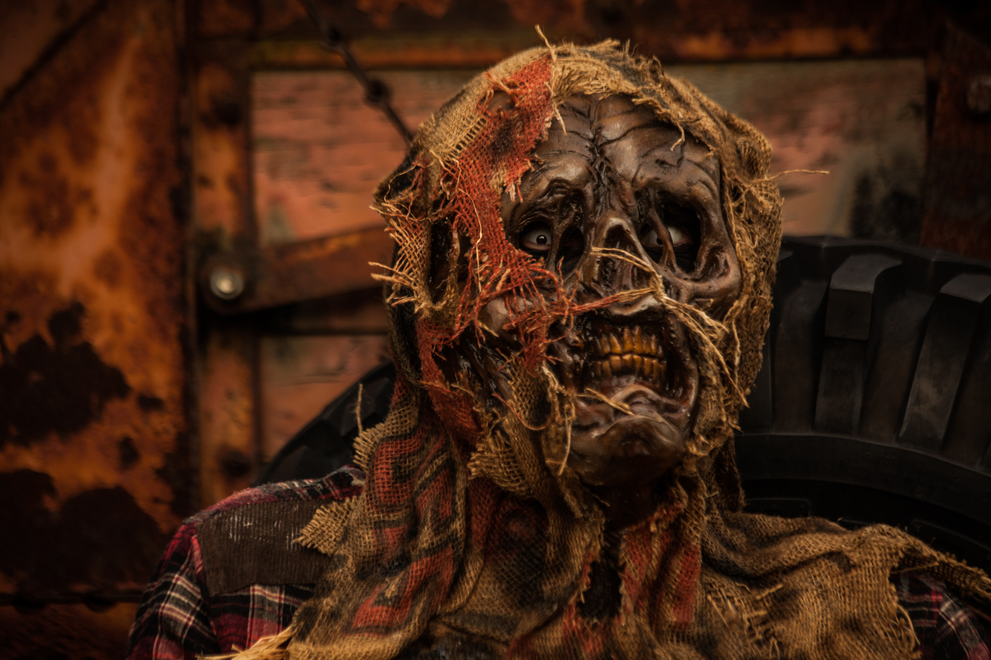"Scarecrow mask ""Rot"""