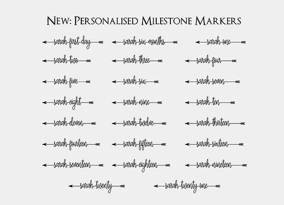 Personalised Milestone Markers