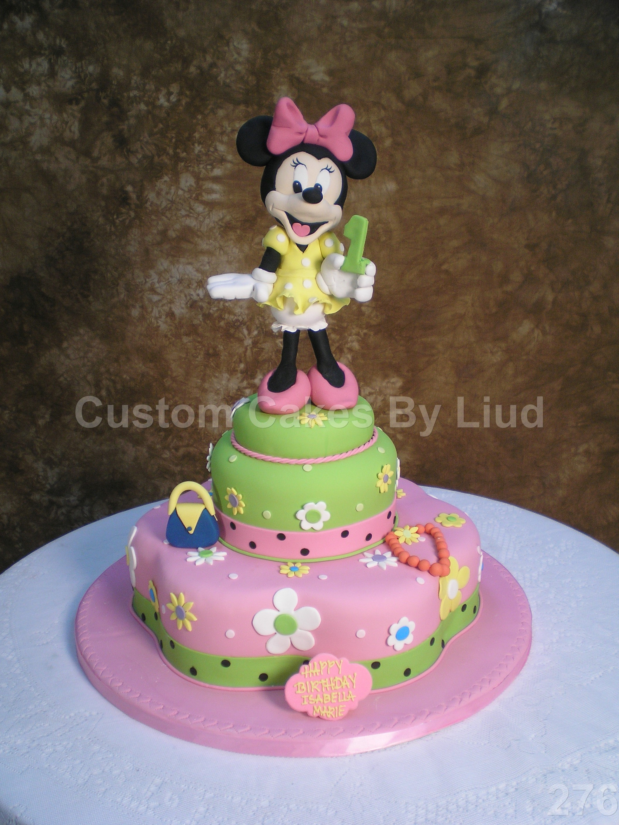Custom Girls Birthday Cake
